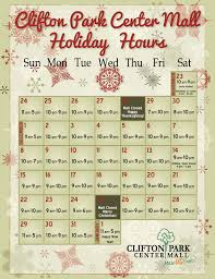 mall hours on thanksgiving clifton park center holiday hours are here at clifton park