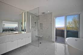 Carrara Marble Bathroom Countertops Contemporary Master Bathroom With Master Bathroom U0026 Undermount