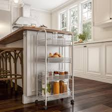 narrow storage cabinet for kitchen tiered narrow rolling storage shelves mobile utility organizer for kitchen bathroom laundry and more by lavish home