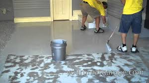 epoxy floor installation youtube