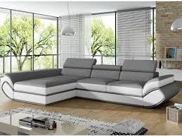 canapé angle gris blanc canapé d angle convertible simili 2 coloris orleans