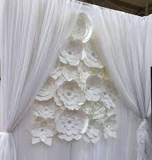 wedding backdrop paper flowers diy paper flower backdrop white paper flower wedding