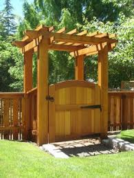 Arbor Ideas Backyard 3 This Pergola Gate For When We Eventually Do The Fence On The