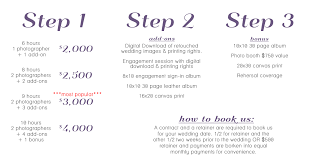 wedding photography prices nashville wedding photography pricing packages