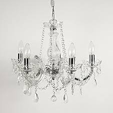 Marie Chandelier 5 Light Dual Mount Acrylic Chandelier Chrome U0026 Clear Crystal