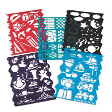 amazon com plastic stencils assorted designs pack of 10