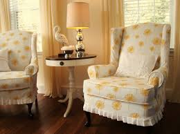 Wing Back Chair Slip Covers Wingback Chair Slipcover Linen