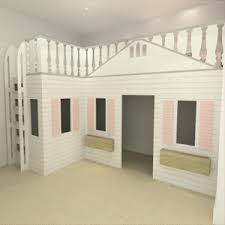 Playhouse Bunk Bed Playhouse Mansion Cottage High Sleeper Bed