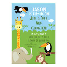 safari invitations u0026 announcements zazzle