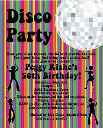 disco party invitations 70 u0027s disco dance party