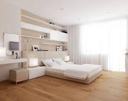 contemporary master bedroom with built in bookshelf u0026 hardwood