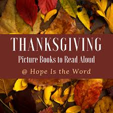 thanksgiving picture books to read aloud is the word