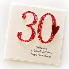 30 wedding anniversary 30th anniversary custom card personalised wedding husband