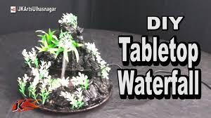 table top water fall diy how to make waterfall tabletop cement mountain waterfall