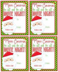 printable christmas redbox gift tag merry christmas and to
