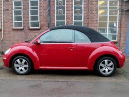 2008 volkswagen beetle 1 6 luna convertible in bright red 41k fsh