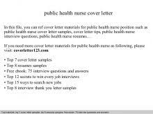 Public Health Resumes Sample Public Health Cover Letter Cover Letter Sample Health Care