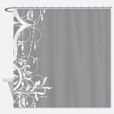 grey shabby chic shower curtains grey shabby chic fabric shower
