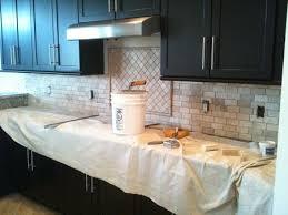 Travertine Backsplash Tiles by Ceramictec 2 4 Tumbled Travertine Back Splash With Glass Tile