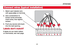 honeywell programmable thermostat wiring diagram wiring diagrams