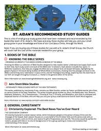 Best Recommended Materials Small Group Study Guides