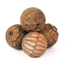 decorative wood carvings carved wood balls