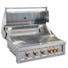 dyna glo 5 burner propane gas grill in gray with stainless steel