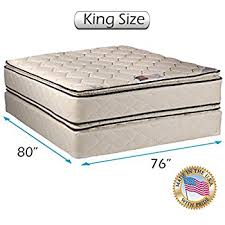 amazon com coil comfort pillowtop king size mattress and box