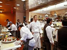 on the line with bobby flay at bar americain chefs food