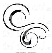 Decorative Line Clip Art Scroll Clipart Swirls Pencil And In Color Scroll Clipart Swirls