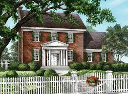 classic colonial home plan 32563wp architectural designs