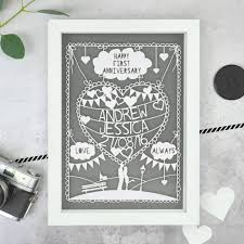 paper anniversary gift ideas personalised anniversary papercut by the portland co