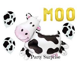 cow print balloons farm cow balloon black cow print balloons farm party