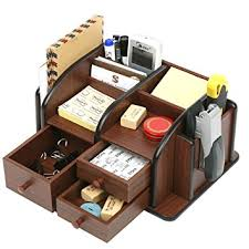 wood supplies mygift wood office supplies organizer with 3 drawers