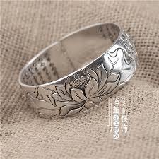 jewelry silver handmade bracelet images Usd 143 75 heart sutra bracelet embossed lotus 999 foot silver jpg