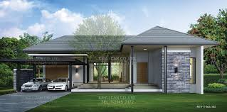 Kerala Style Single Floor House Plan Astounding Modern Tropical Architecture Homes With Mini Resort