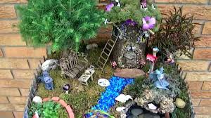 Mini Fairy Garden Ideas by Fairy Garden With Pond And Waterfall 2014 Miniature Fairies Youtube