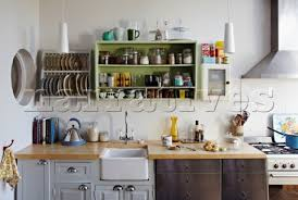 wall mounted kitchen shelves image detail for wall mounted plate rack and storage shelf in