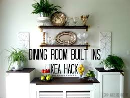 ikea hack for built in dining room storage when you have to work