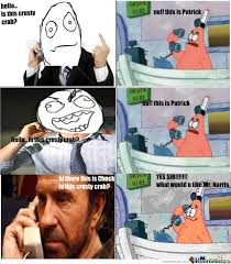 Chuck Norris Pokemon Memes - is this crusty crab with chuck norris by sensei meme center