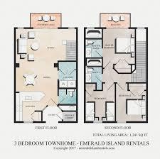 Bed Floor Plan Emerald Island Rentals Timon U0027s Magic 3 Bed Villa Floor Plan
