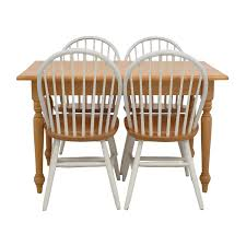 49 off macy s macy s craft mission shaker table and chairs tables butcher block kitchen table and four chairs discount