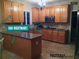 how to update honey oak kitchen cabinets from to great a tale of painting oak cabinets