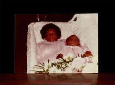 baby casket 1980 afro american and child in casket post mortem