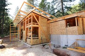 off the grid straw bale getaway fine homebuilding the main living space is built with straw bale construction while the second floor tier is conventionally built a roof made of structurally insulated