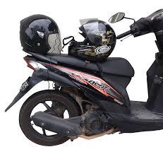 motorcycle accessories amazon com motorcycle helmet lock u0026 cable sleek black tough