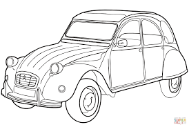 citroën 2cv coloring page free printable coloring pages