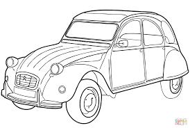 citroen 2cv citroën 2cv coloring page free printable coloring pages