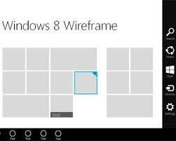 windows 8 home wireframe template for powerpoint free powerpoint