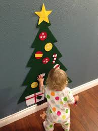 felt christmas tree holiday gift for toddlers kids felt